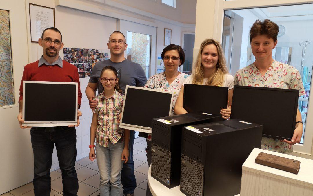 Új monitorokat és számítógépeket kapott a Diabétesz Osztály