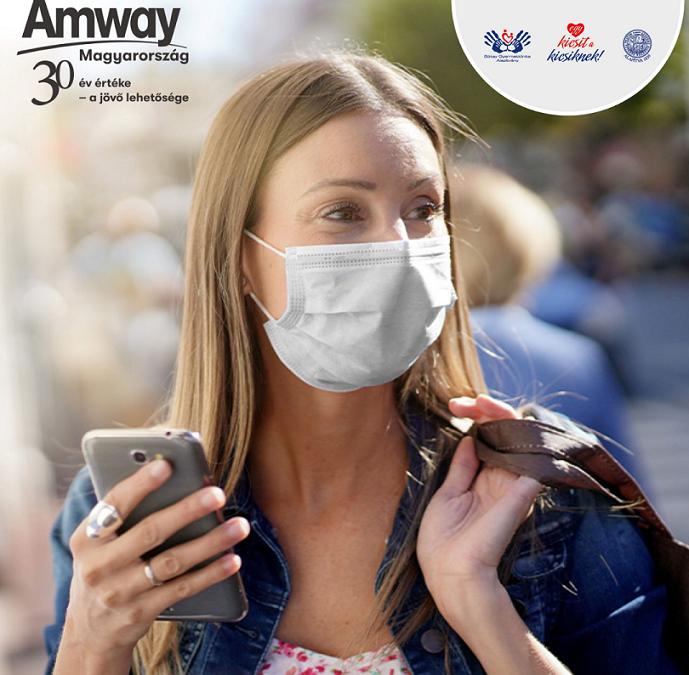 3.600.000 Forint támogatást kaptunk az Amway Hungária Kft-től!